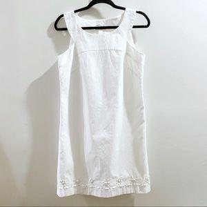 Ann Taylor LOFT White Shift Dress Size 6